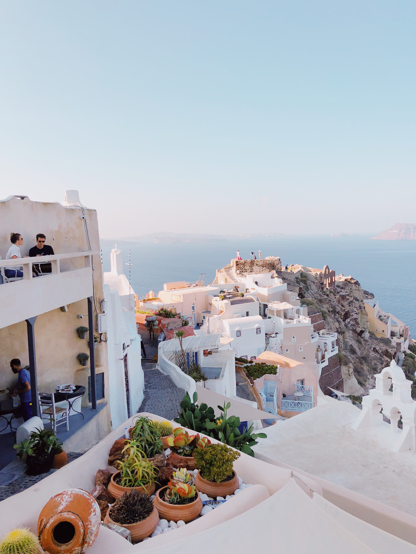 Walking around Oia, Vitrin Cafe is on the left
