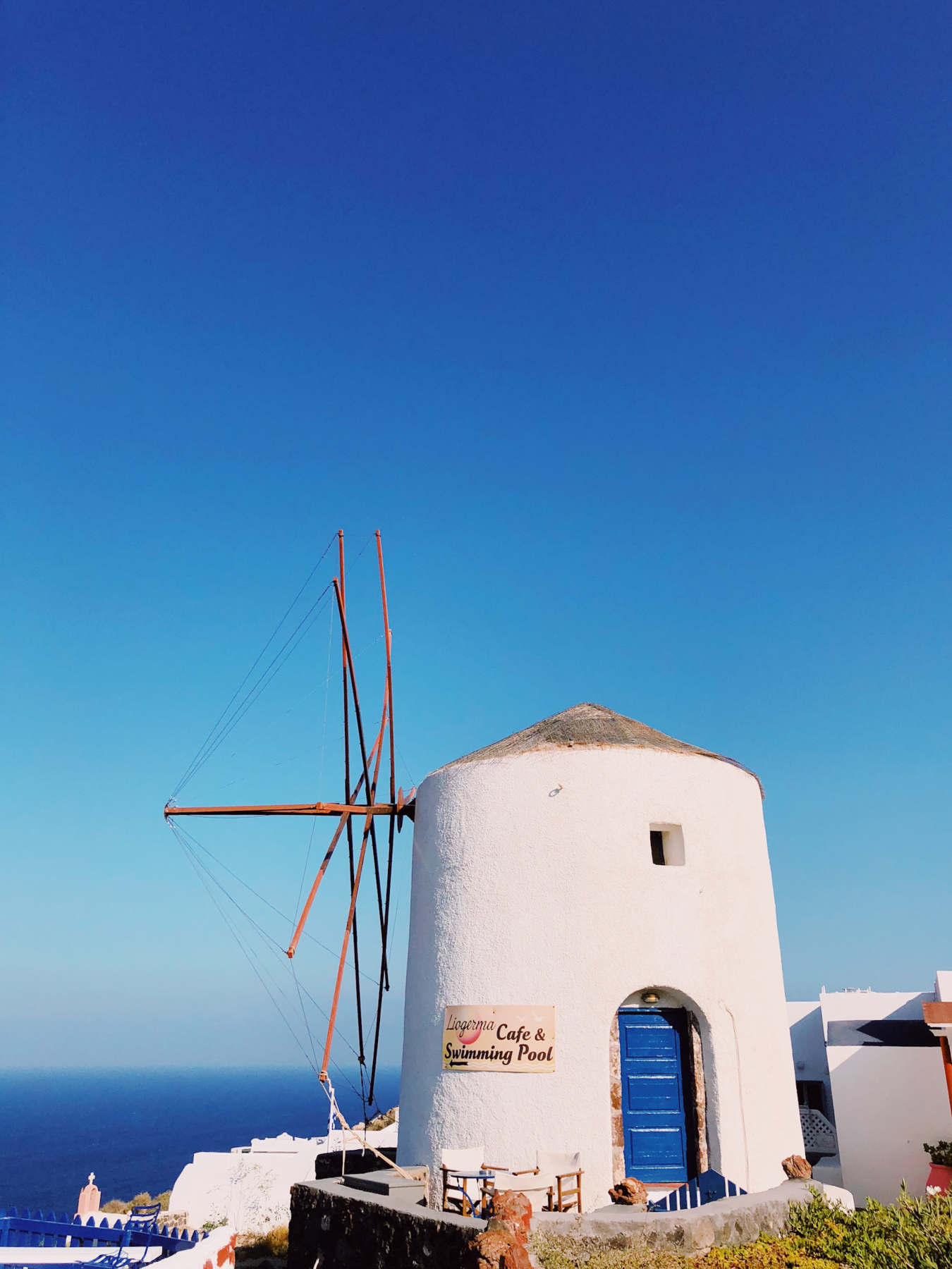 Famous windmill in Oia