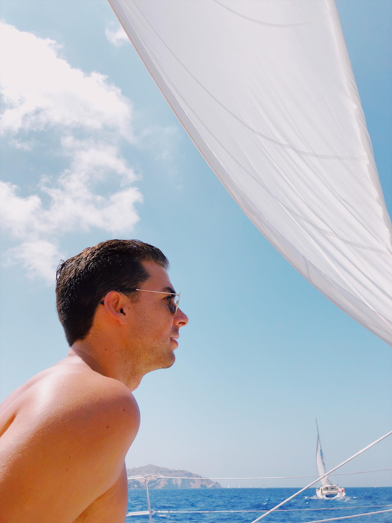 Cruising around on the boat