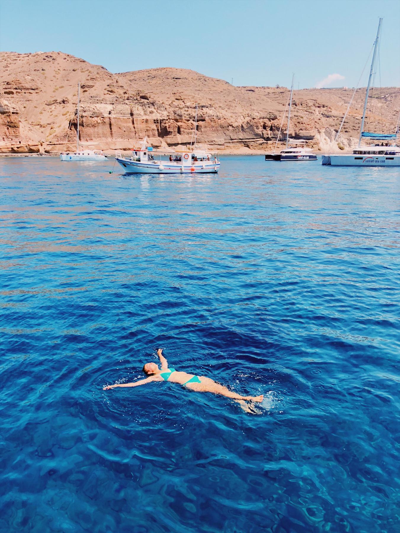 """Swimming at """"White Beach"""""""