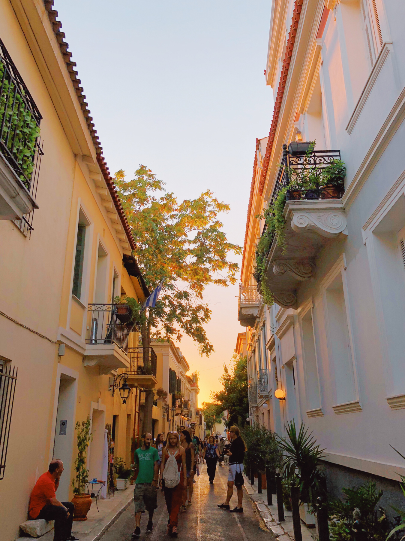 Athens was so romantic as the sunset, a perfect time to take a stroll
