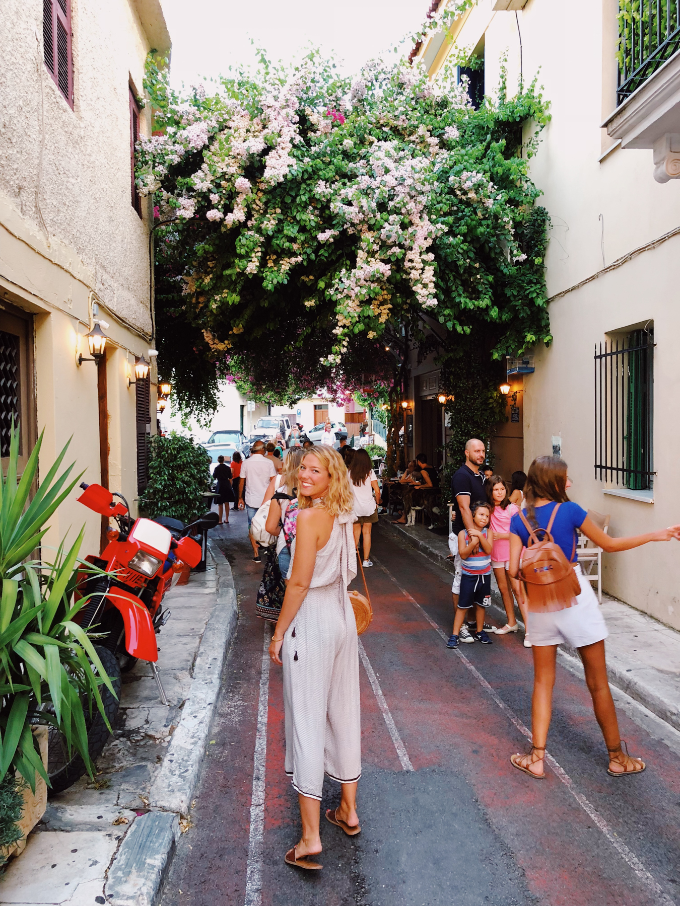 Exploring the Plaka neighborhood in Athens