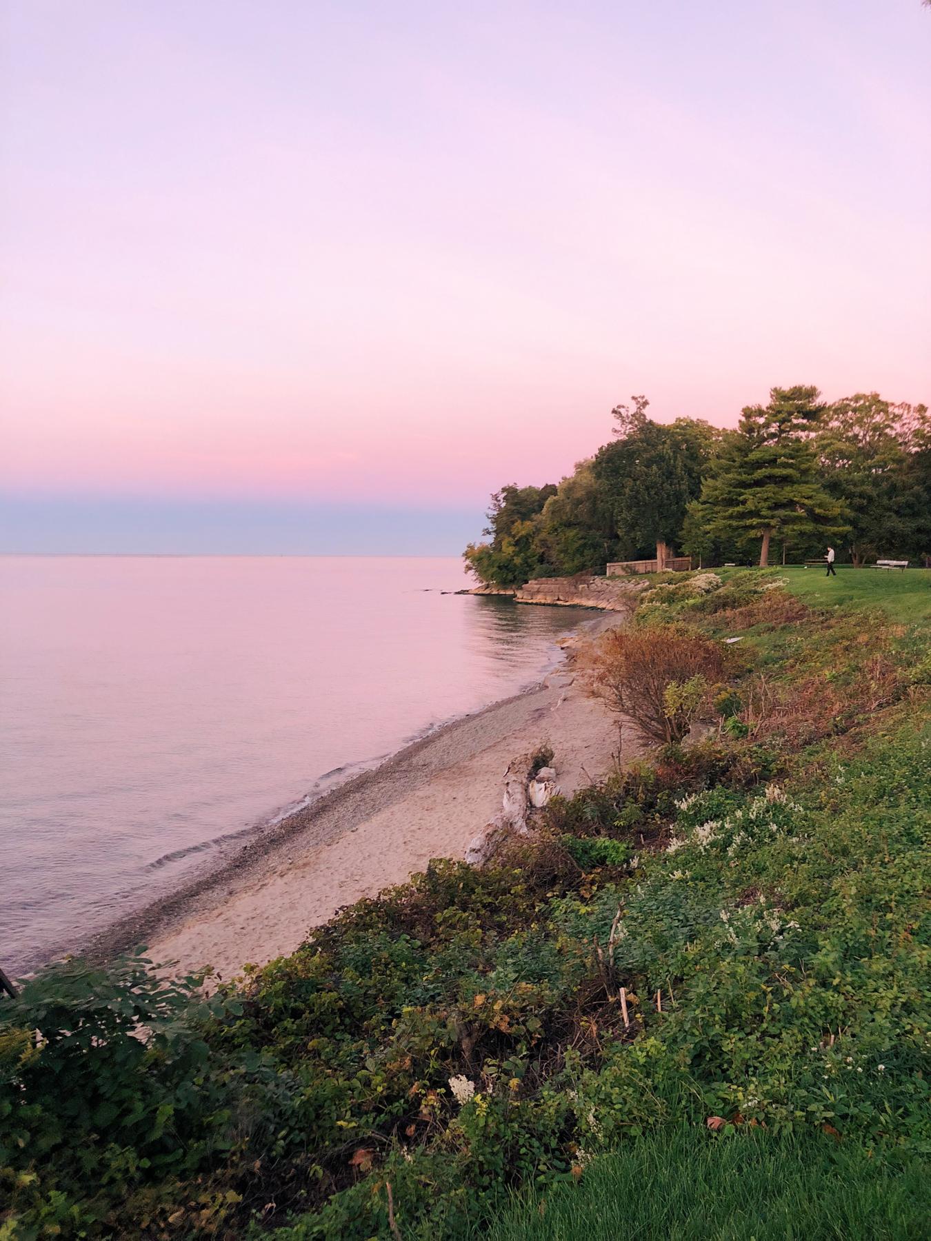 Sunset view of Lake Ontario