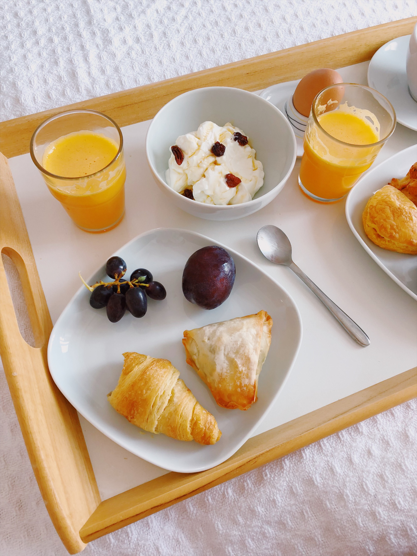Room service breakfast at Kapetan Tasos Suites