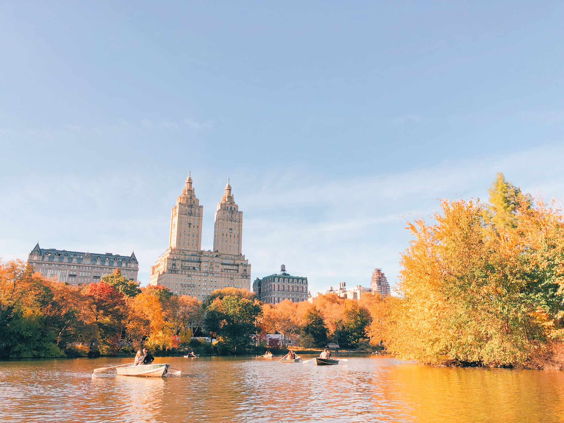 Central Park, view of the San Remo from the boat