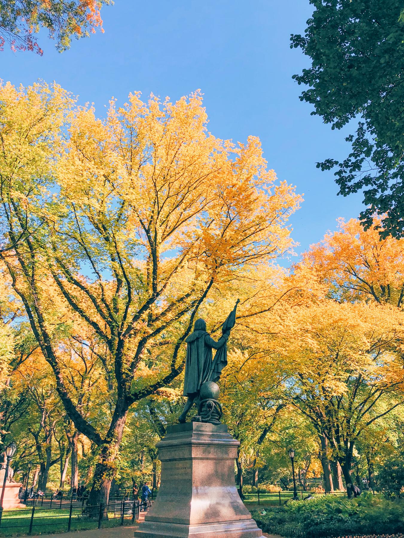 Central Park, Christopher Columbus Statue
