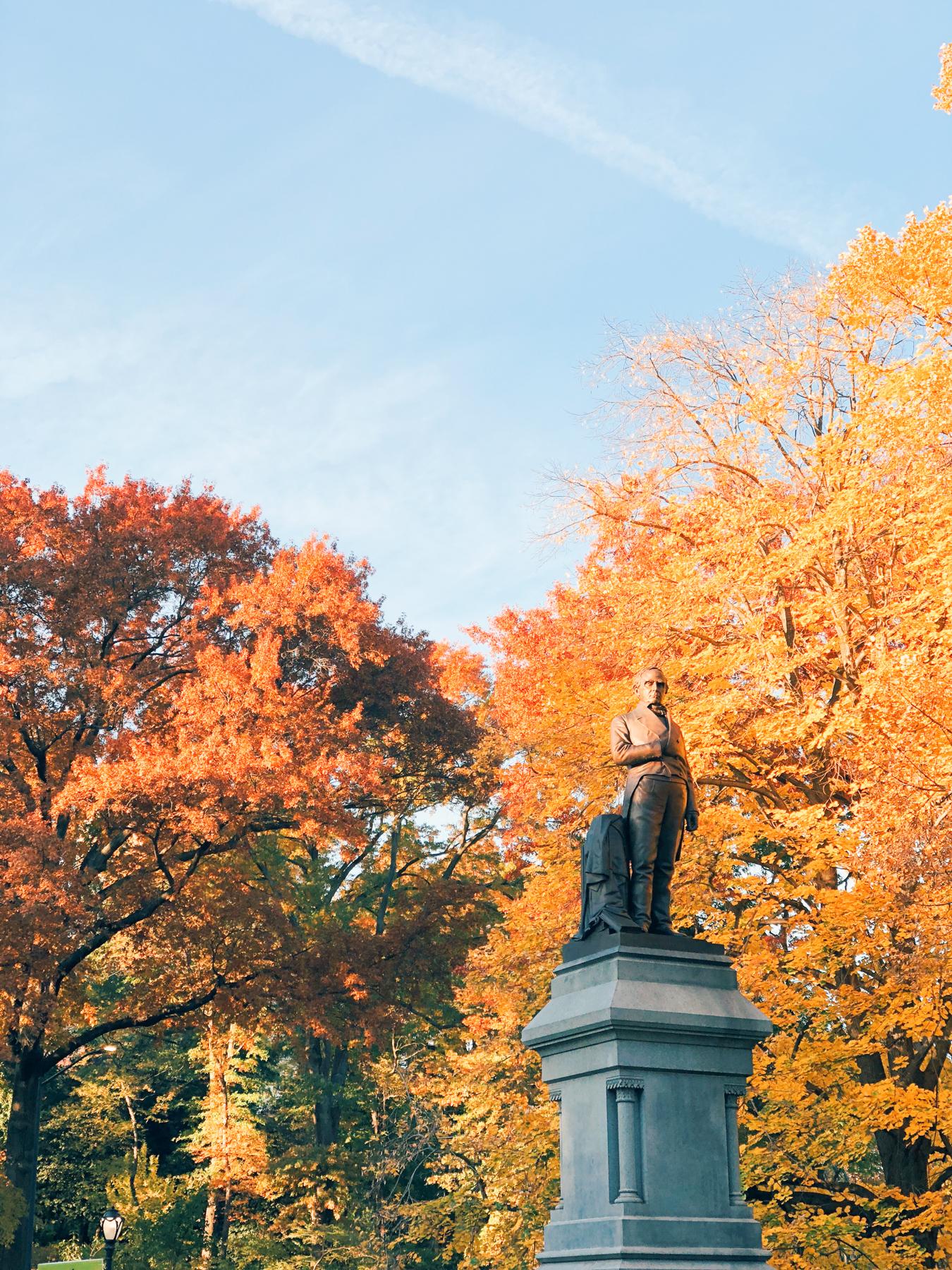 Central Park, Daniel Webster Monument