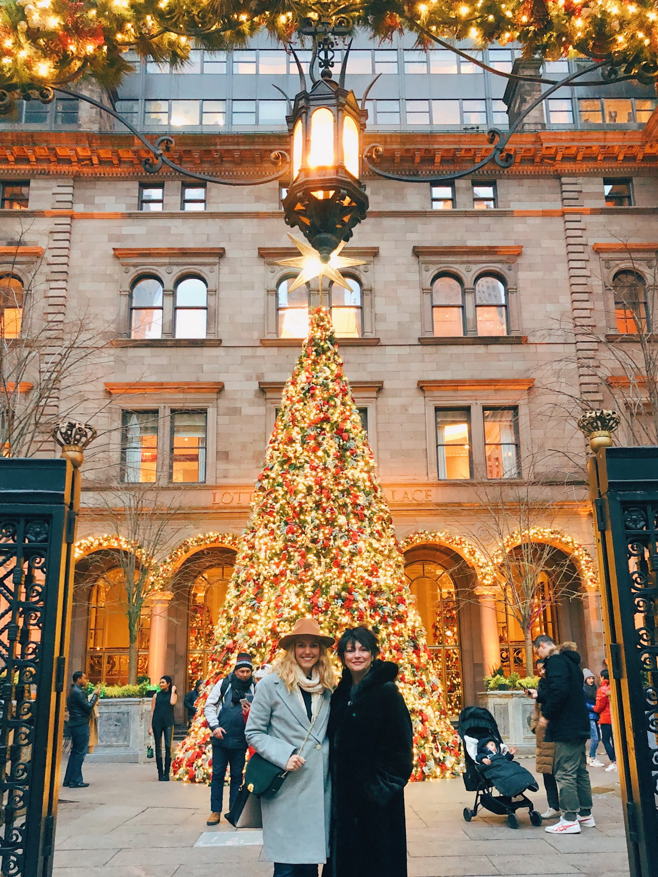 My mom and I at Lotte New York Palace
