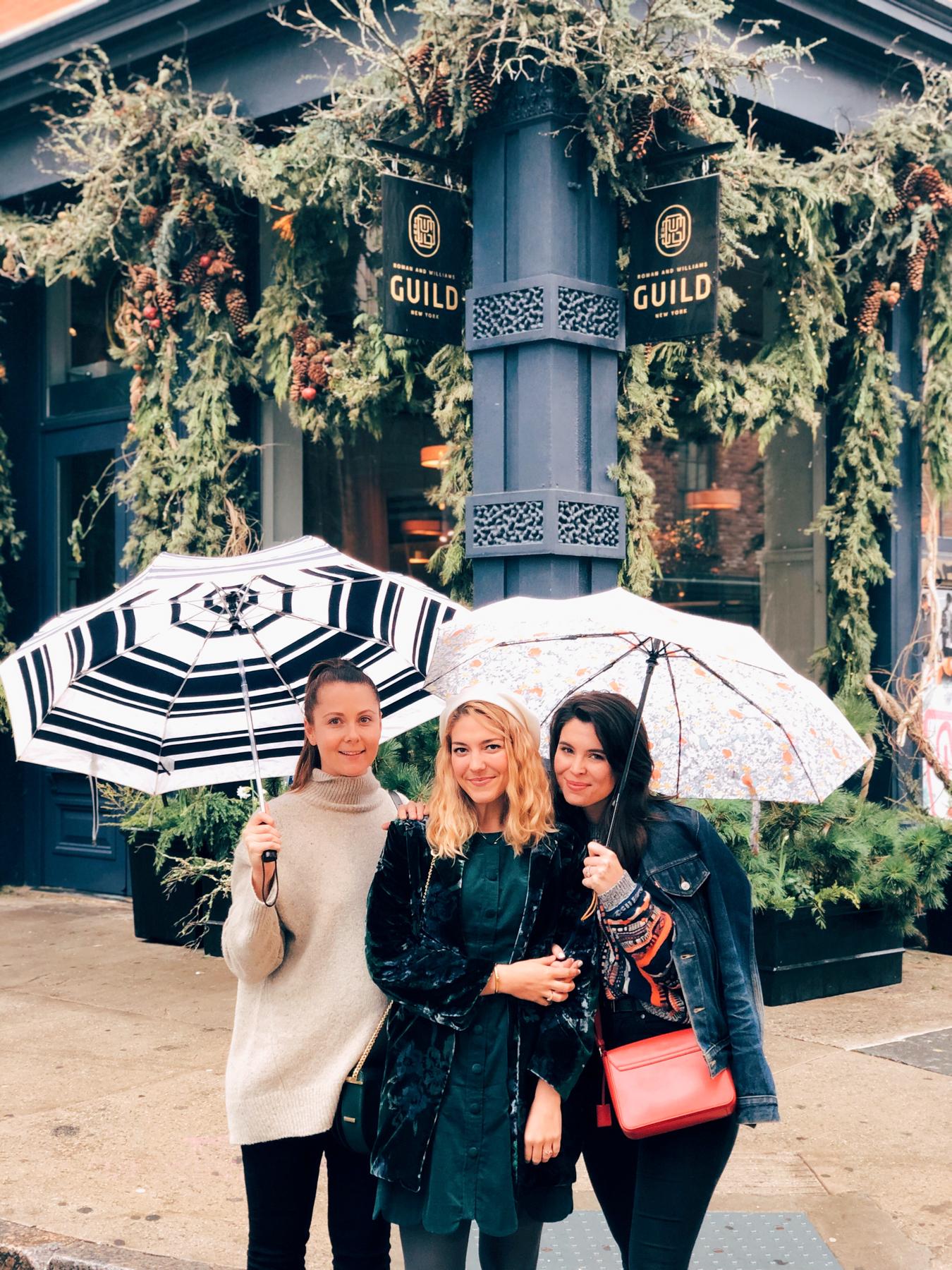 Haley, Kate, and I outside of La Mercerie