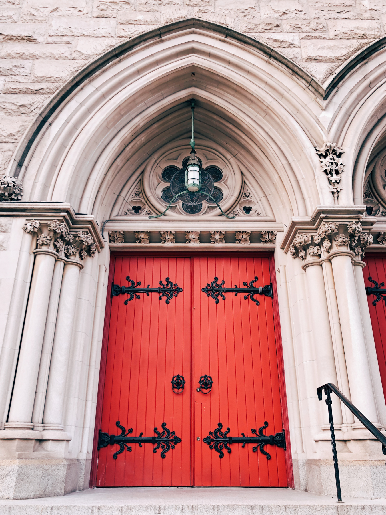 The doors of Holy Trinity Lutheran Church