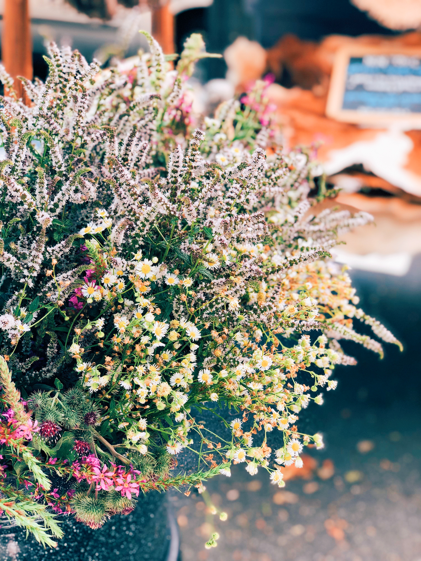 Fresh flowers at the 79th St. Greenmarket