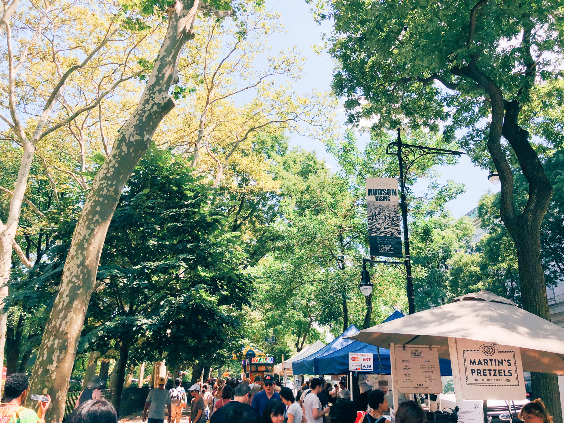 The farmer's market, the 79th St. Greenmarket, every Sunday