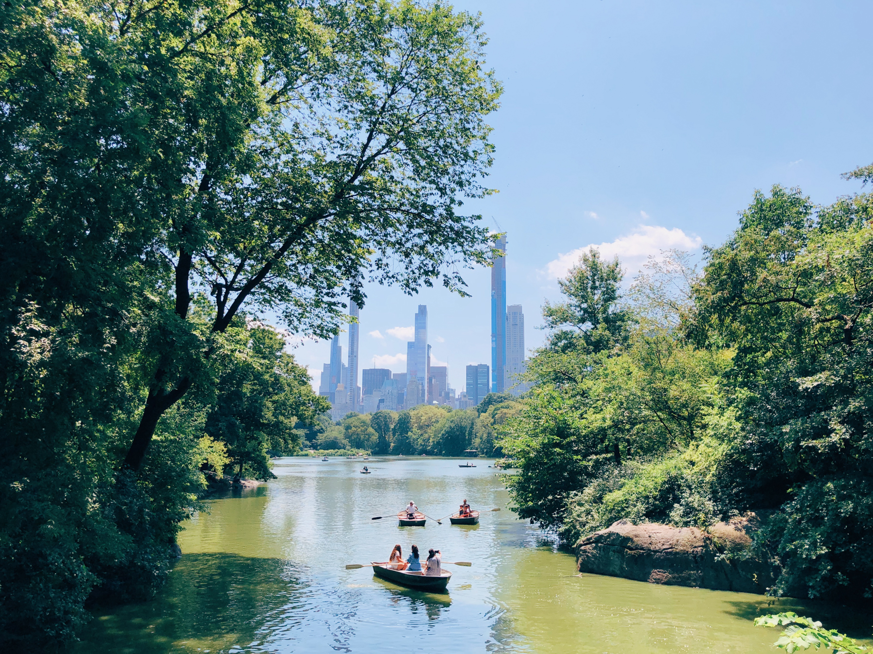 View from Oak Bridge in Central Park