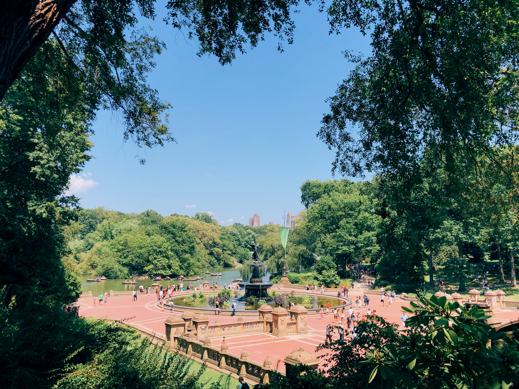 The famous Bethesda Fountain in Central Park