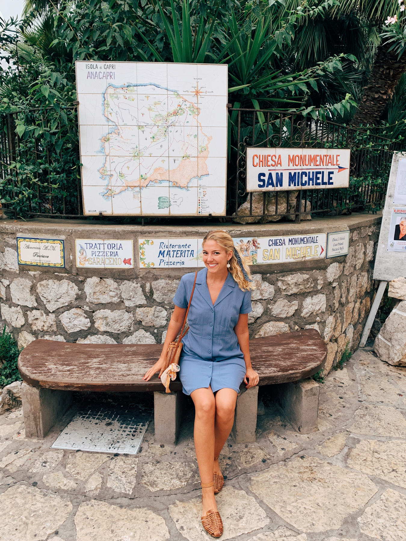 Me posing next to the cute maps and directional arrows.