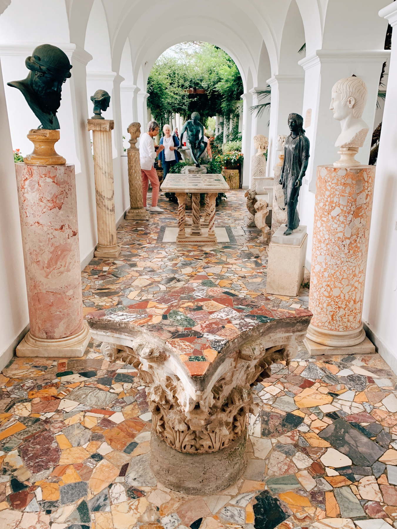 The entrance to Villa San Michele.