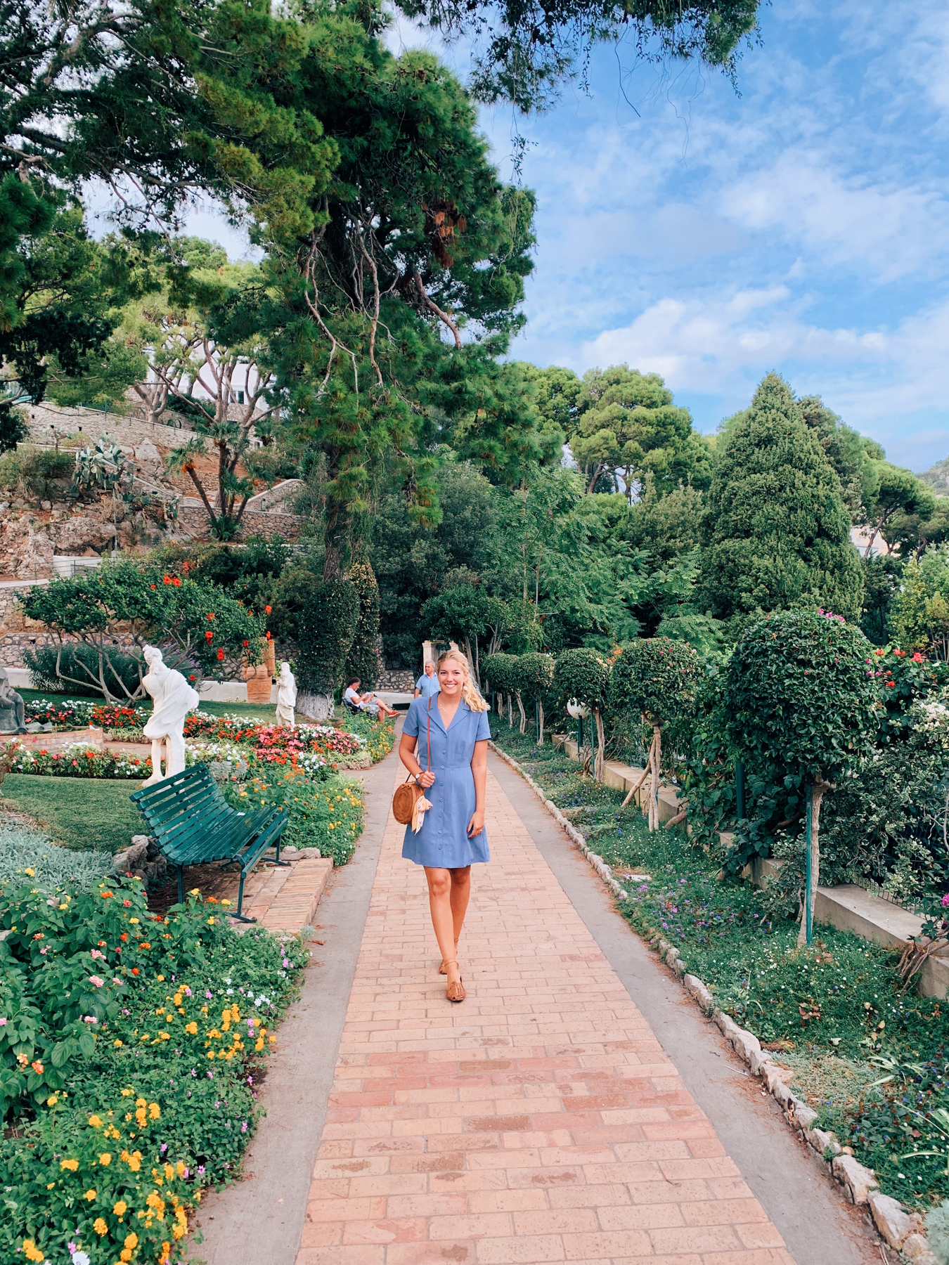 Inside the beautiful Gardens of Augustus.