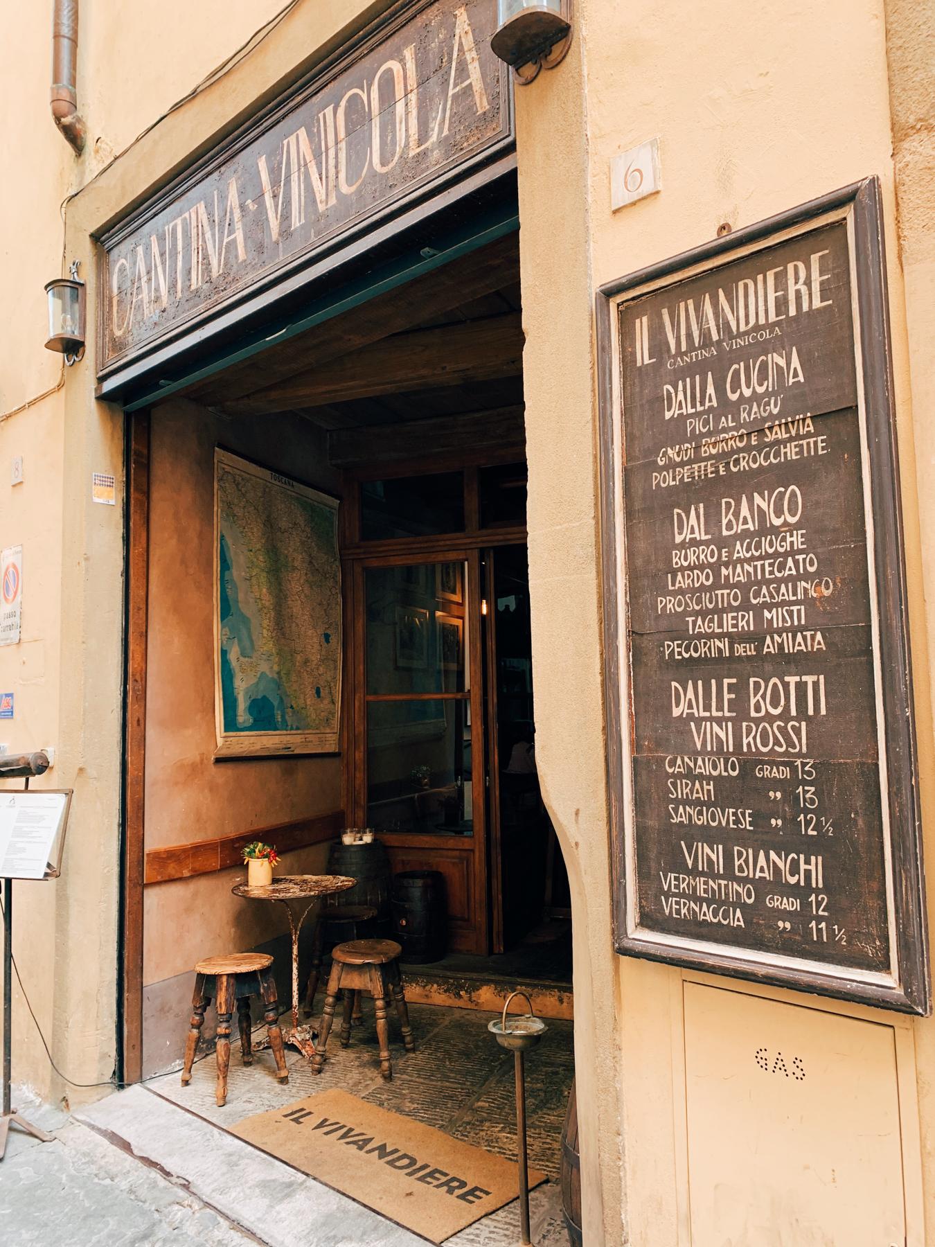 A darling Florence restaurant.