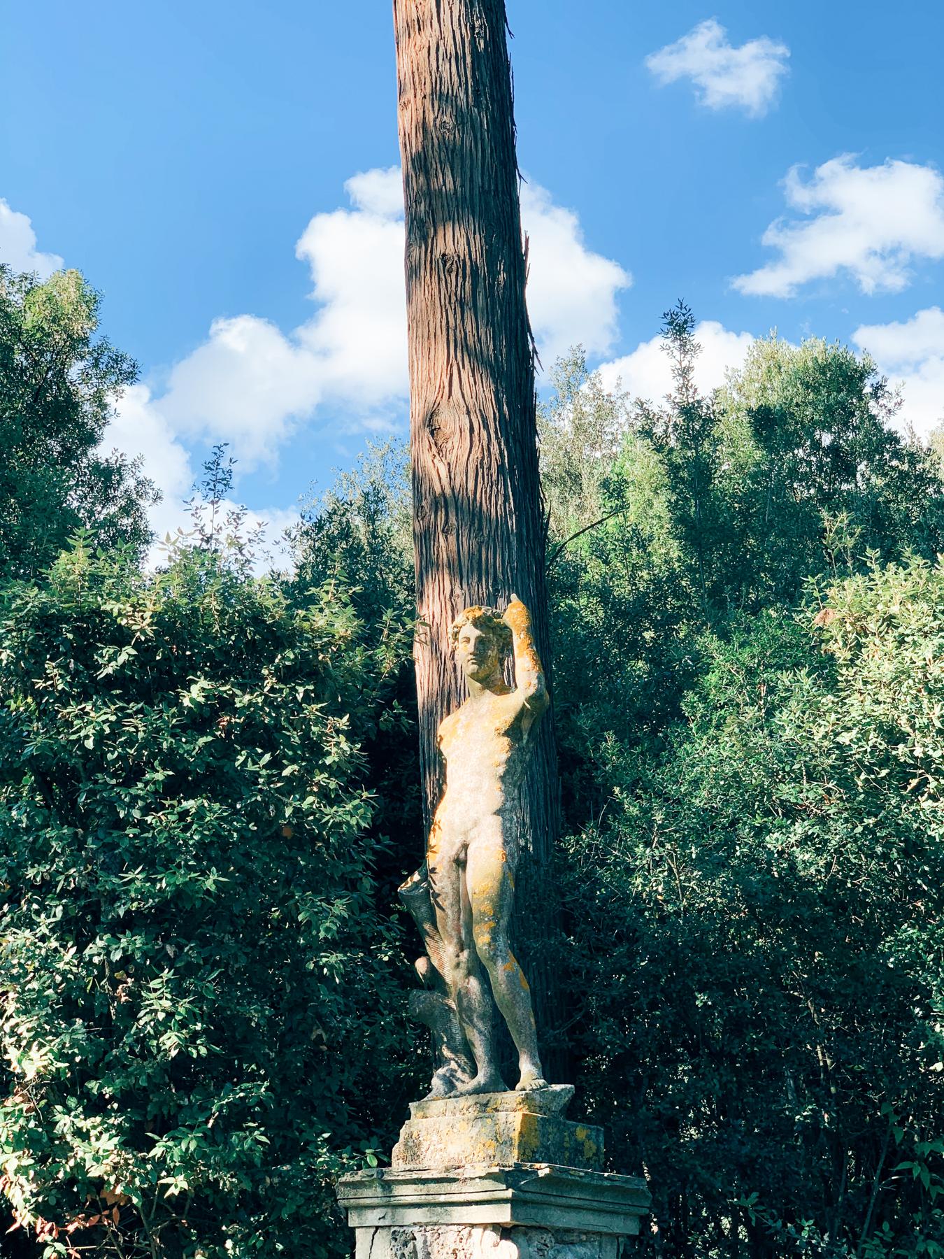 Statue inside Boboli Gardens.