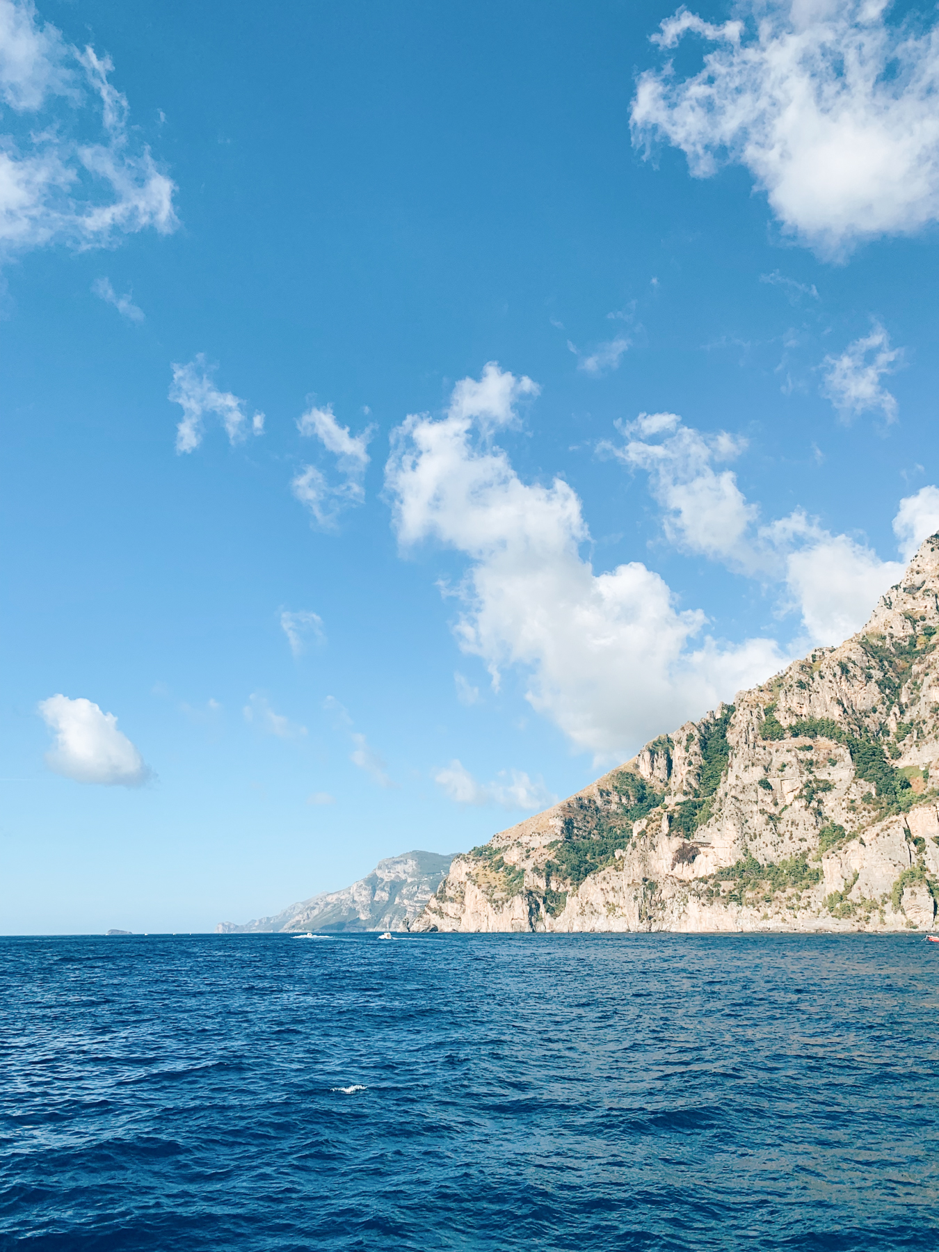 Views from the ferry coming into Positano