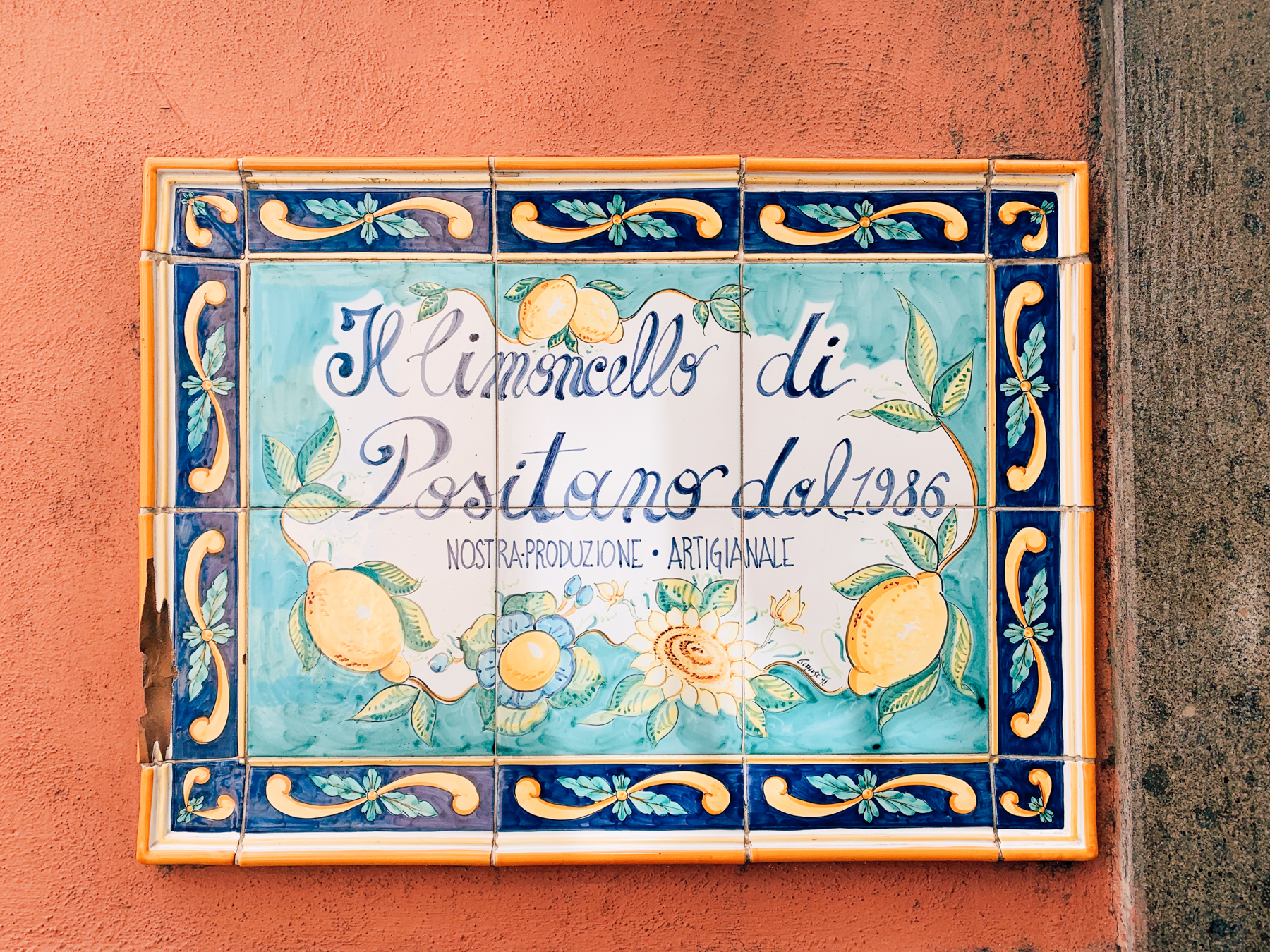 The Amalfi coast is known for it's lemons which are beautifully painted on everything!
