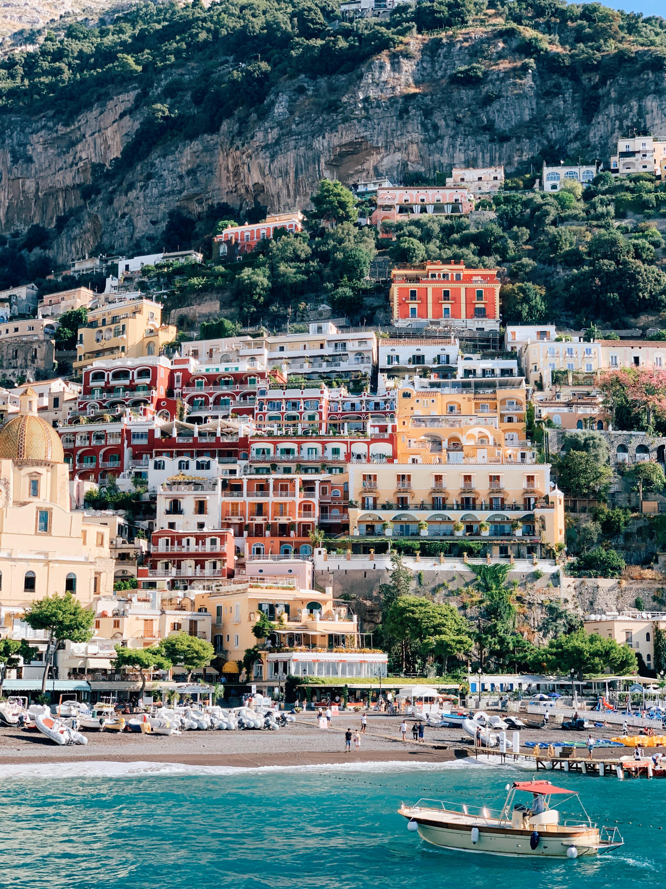 A view of Positano from the water