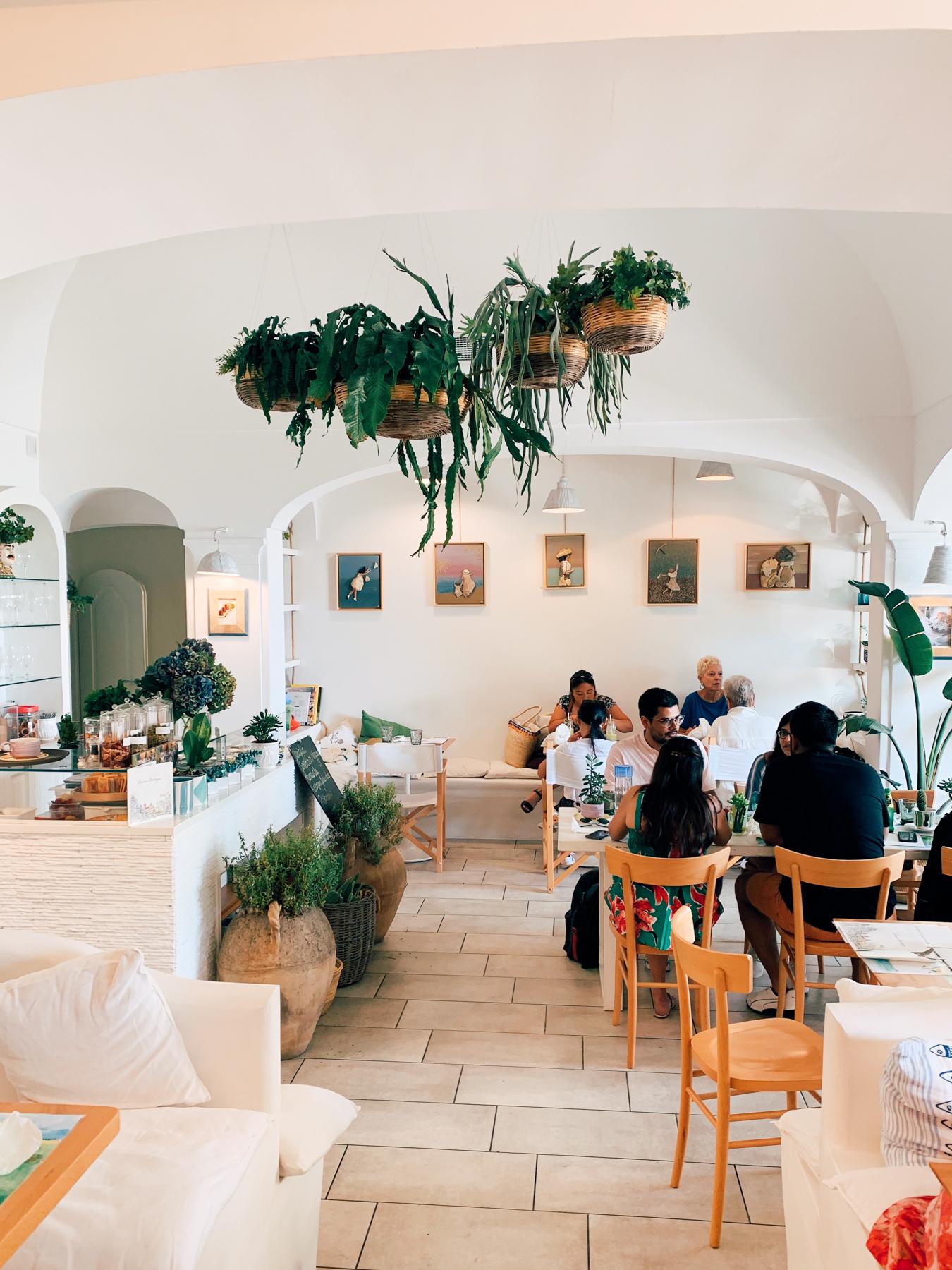 Casa e Bottega was beautiful inside and had delicious food