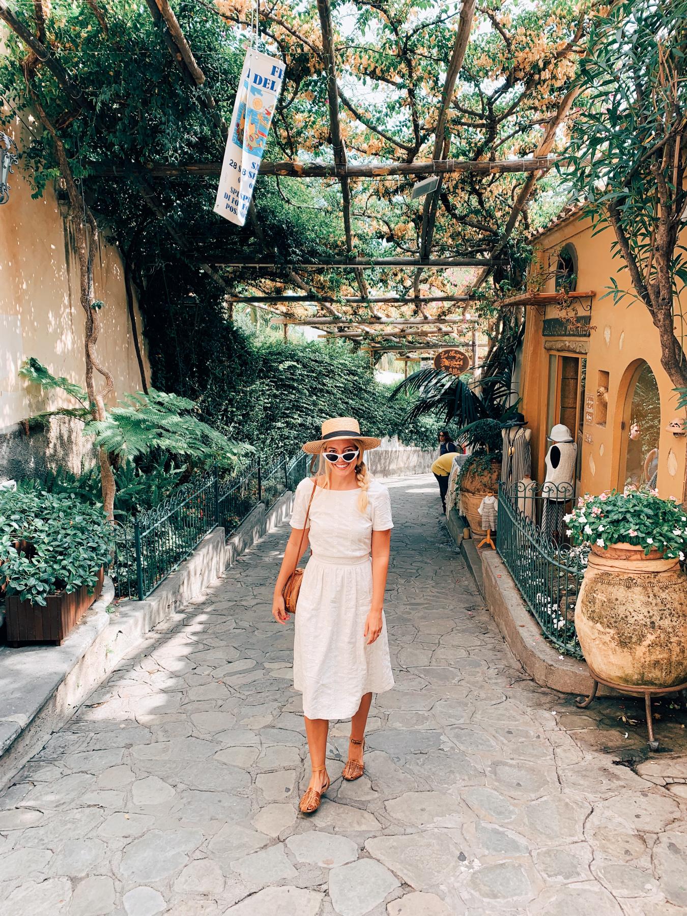 Walking around the charming village