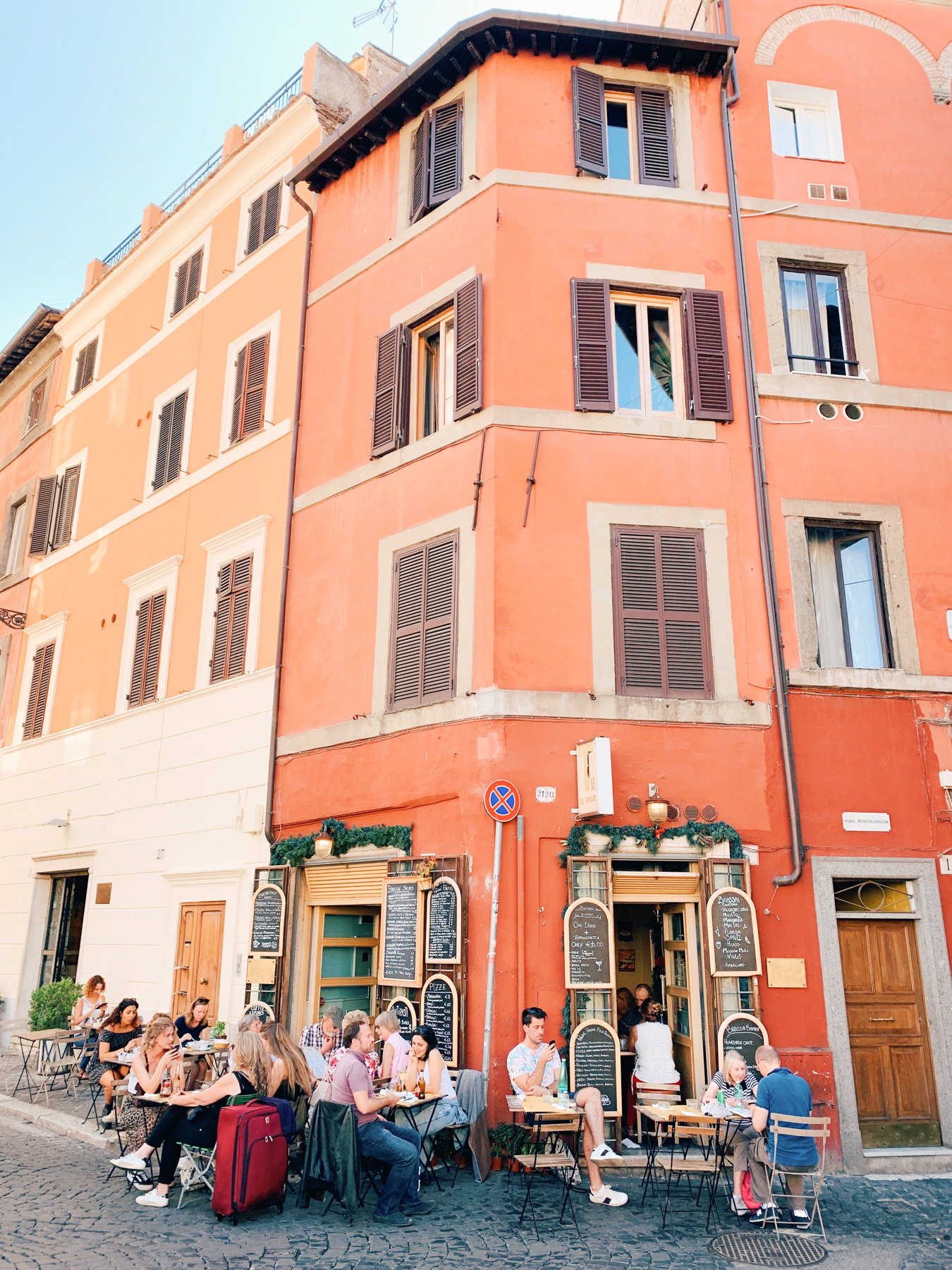 Dining alfresco is one of the most charming parts of Rome.