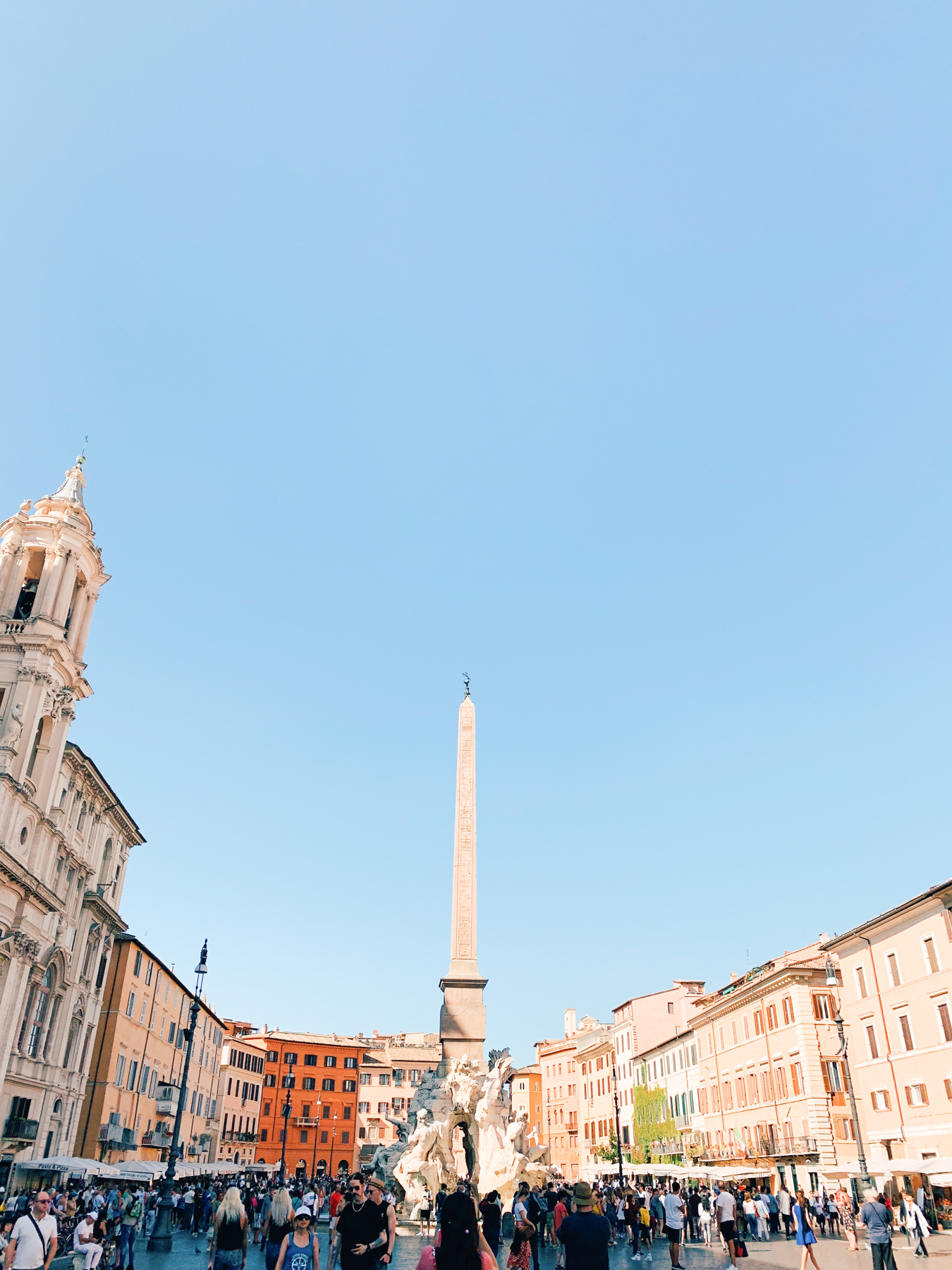 Piazza Navona, my favorite piazza in Rome.