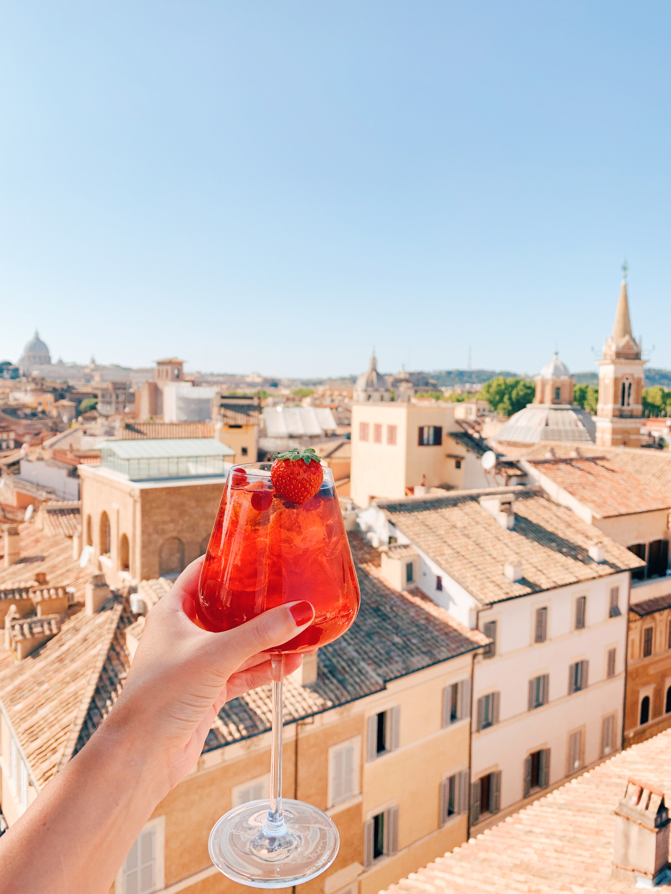 We got rooftop drinks at Terrazza Borromini (part of Eitch Borromini hotel) that gives a gorgeous 360 degree view of the city.