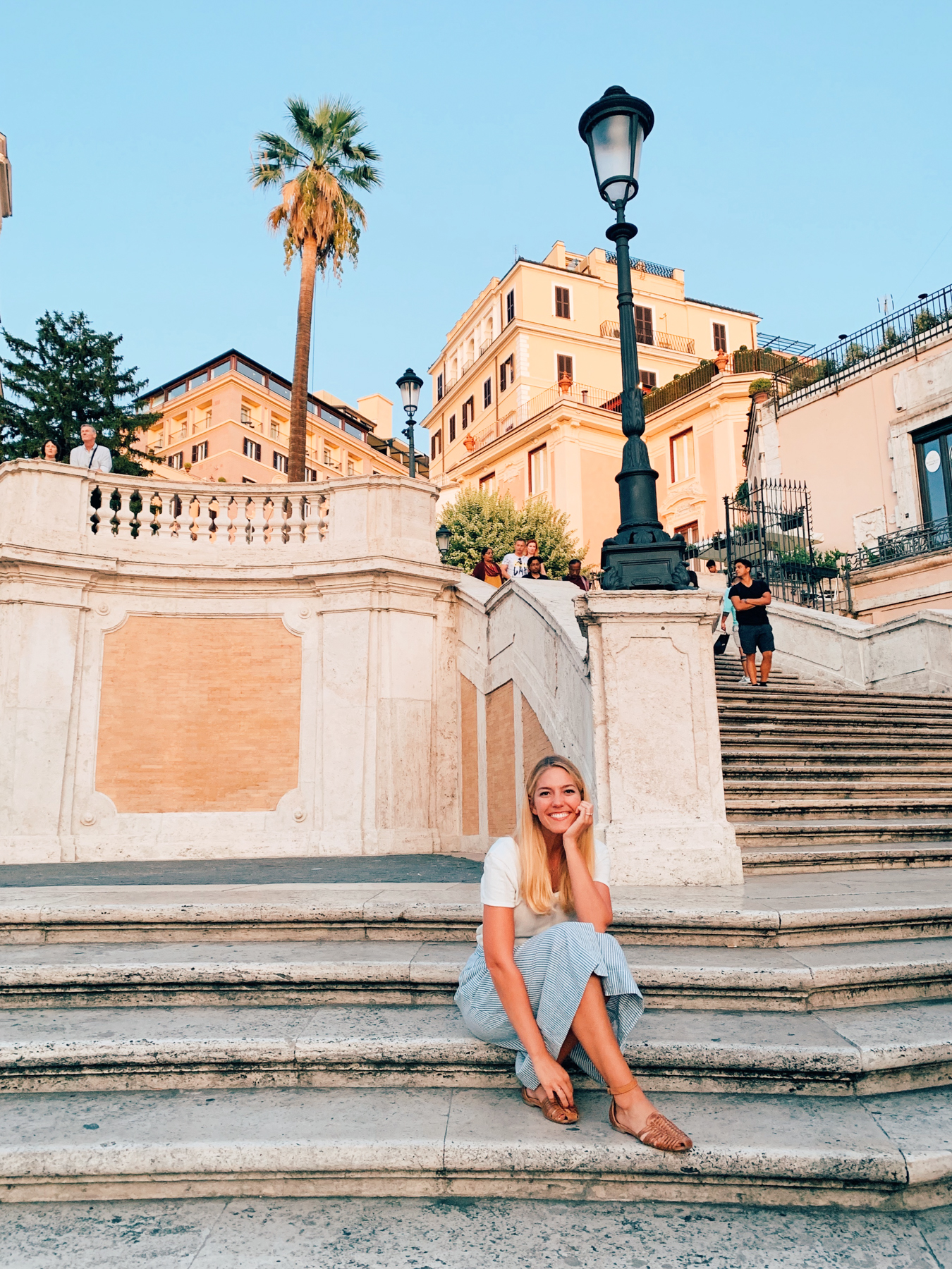 Ending the day at the Spanish Steps.