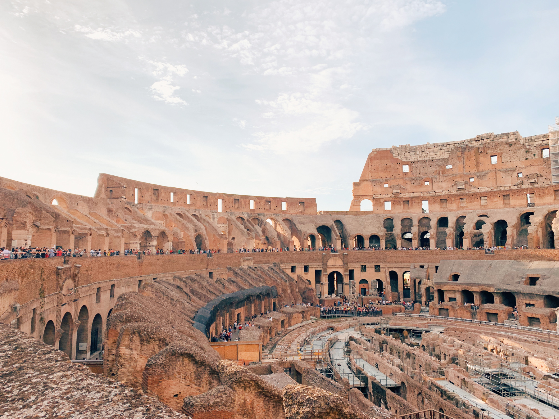 View from inside the Colosseum.