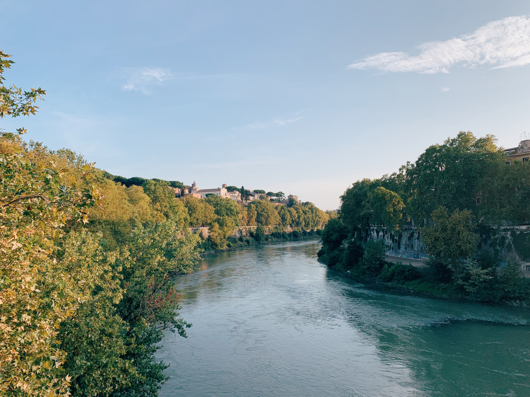 The River Tiber.