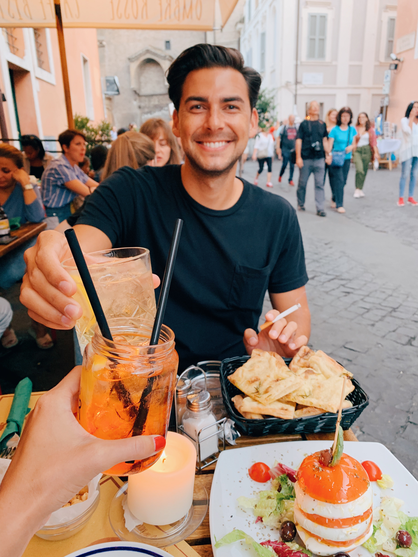We got aperitivo's at Ombre Rosse in Trastevere and it was one the best evenings.