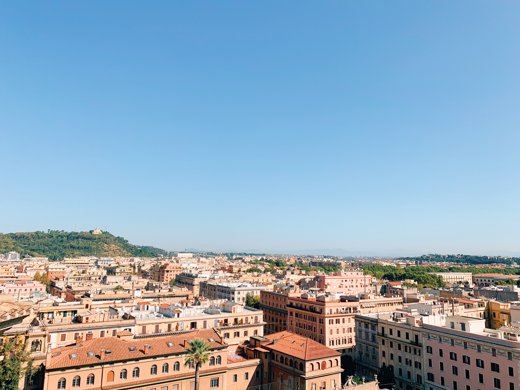 A view of the city from the Vatican Museums.