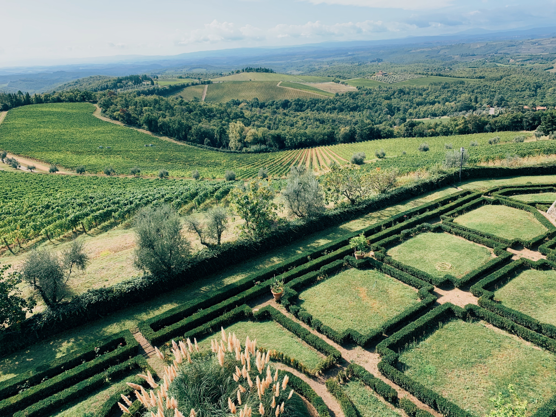Gardens at Castello di Brolio.