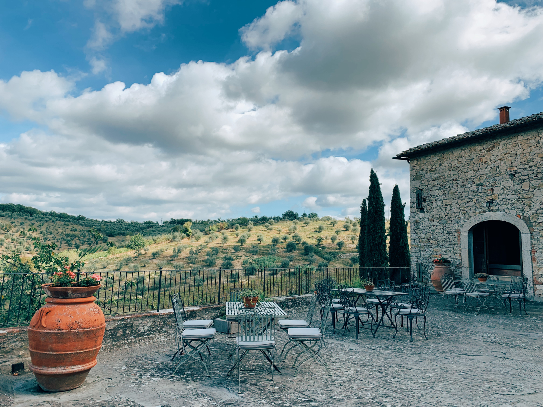 Castello di Ama, my favorite winery we went to.