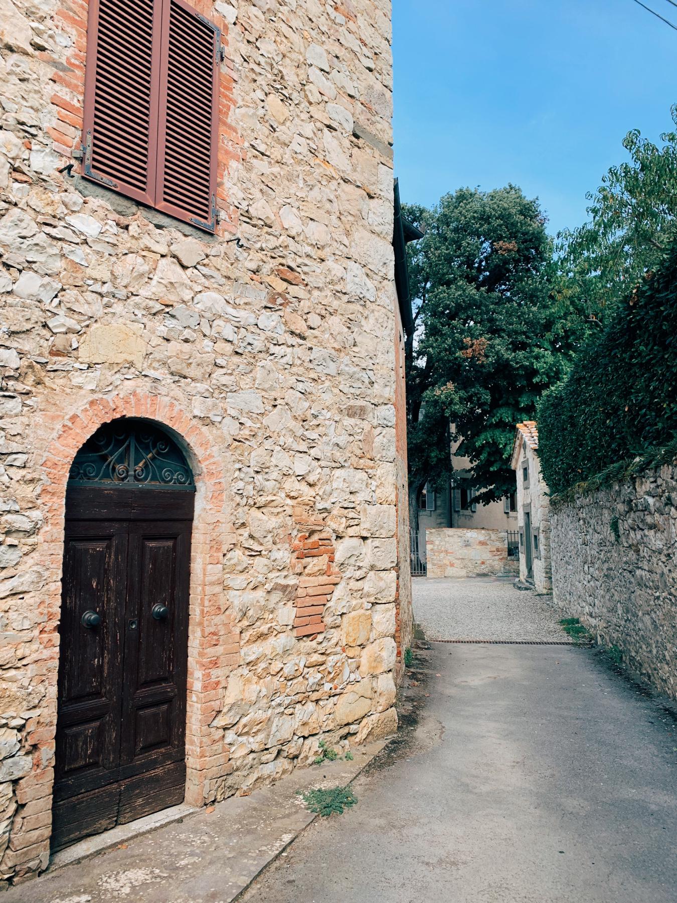 The grounds at Castello di Ama.