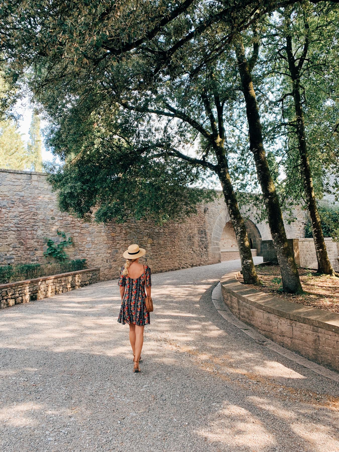 Walking into Castello di Brolio.
