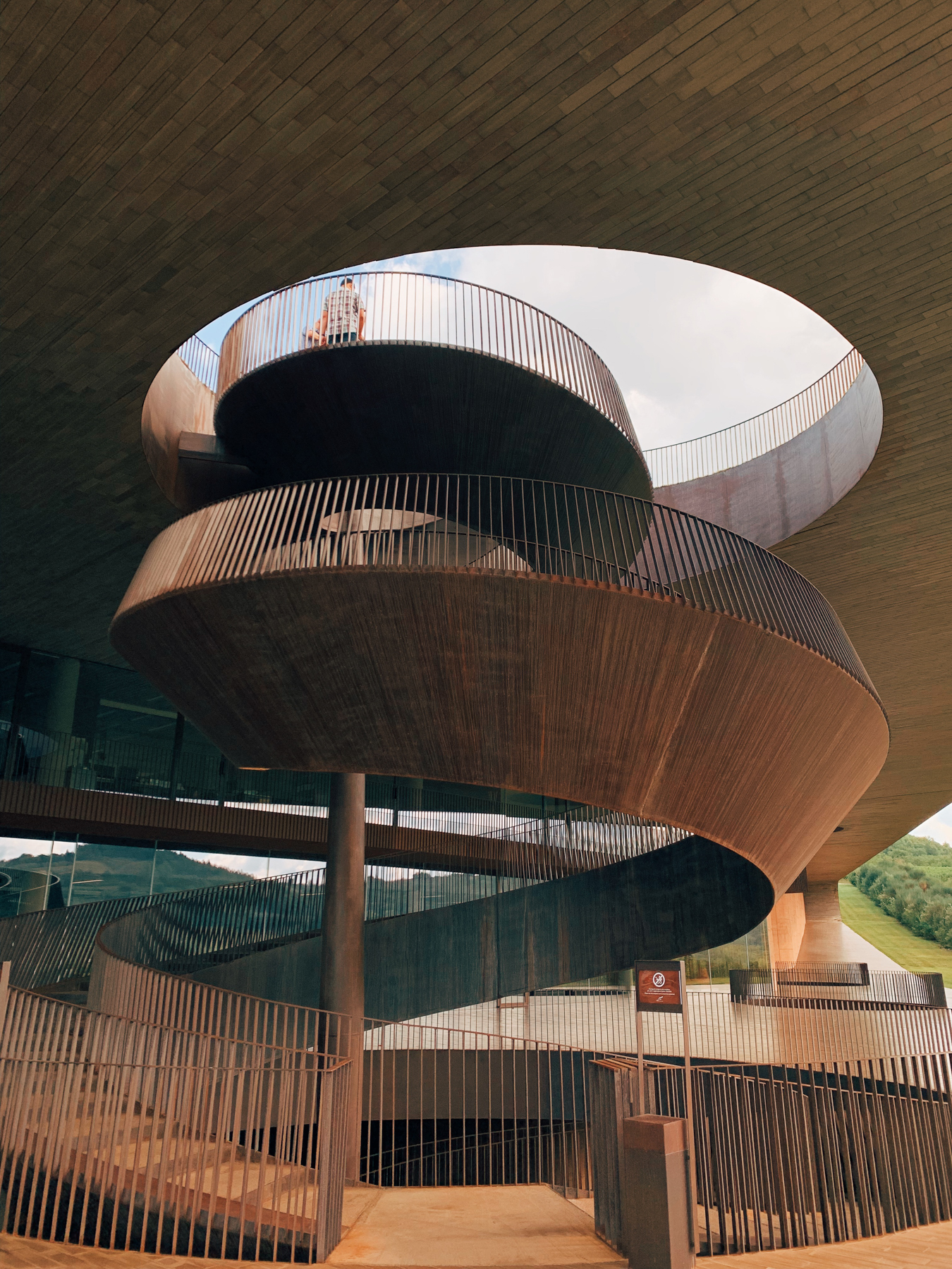 The architecture at Antinori was incredible.