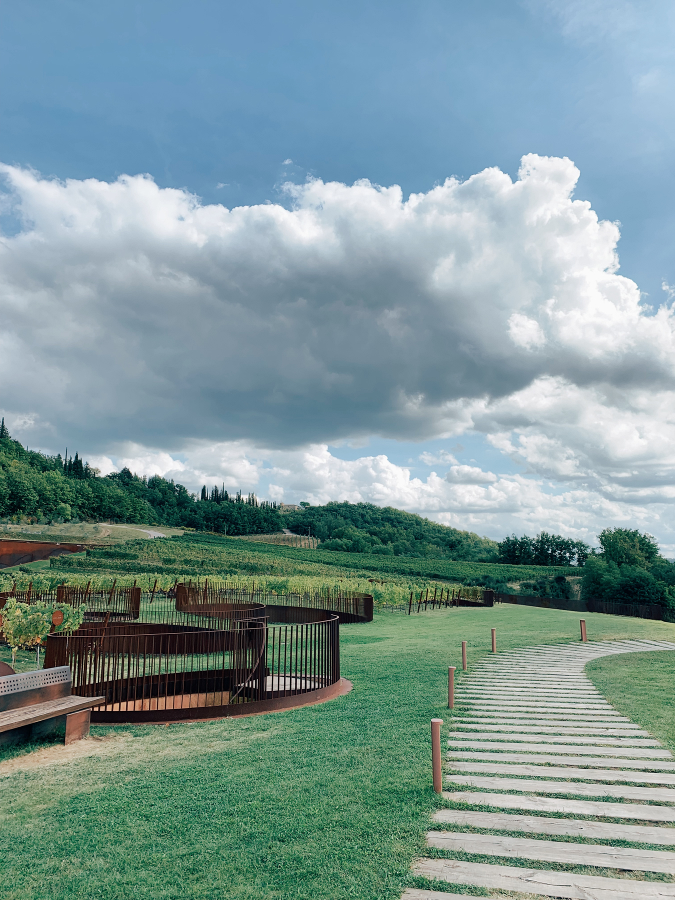 Antinori winery was built into the side of the hill, it was amazing!