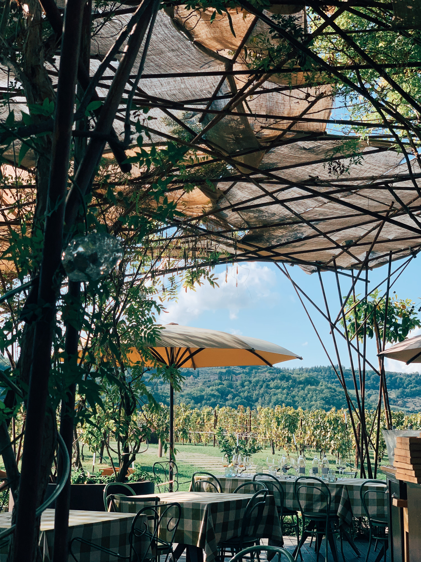 The patio at Antinori.