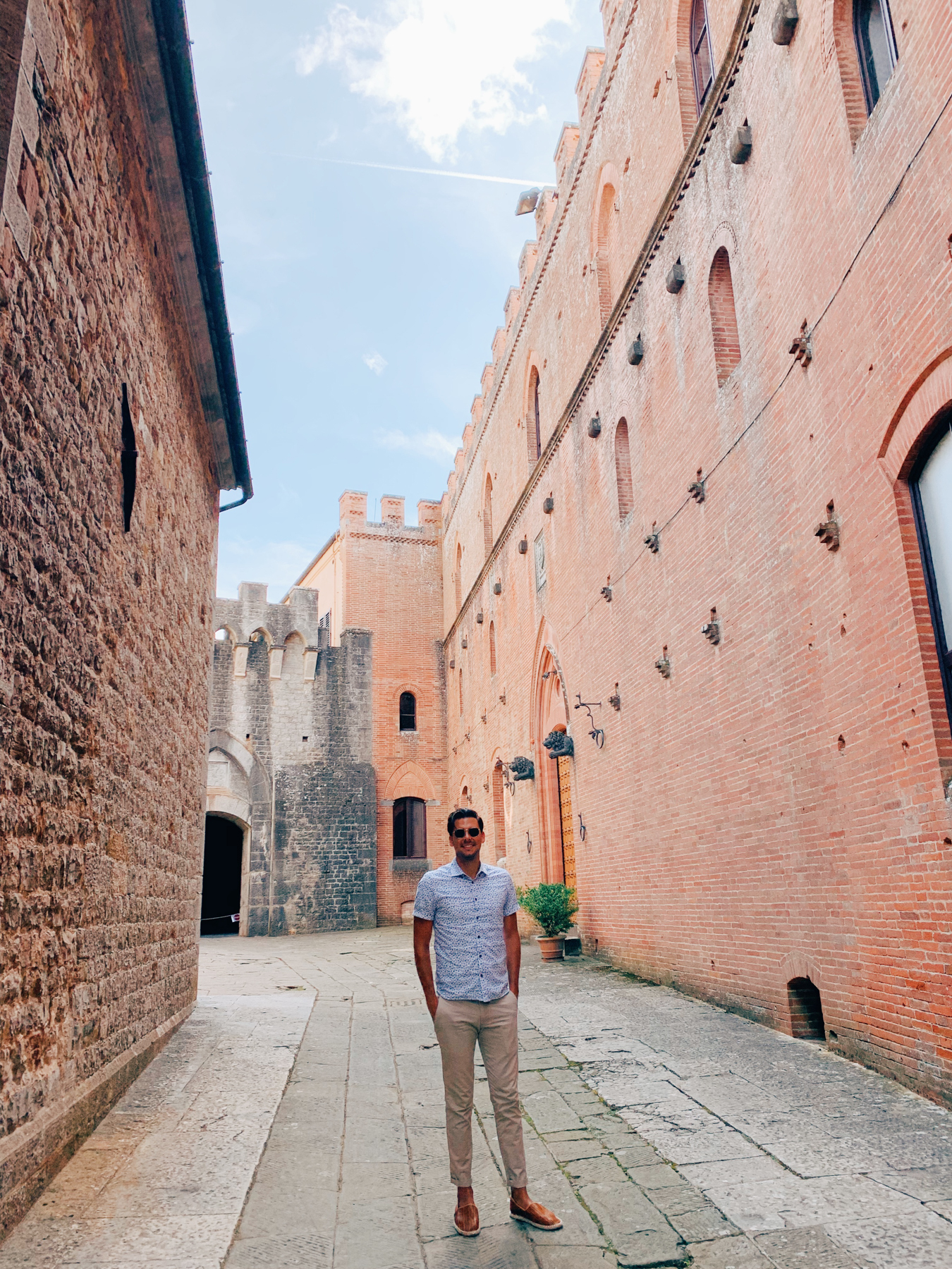 Walking into Castello di Brolio for our first tour.