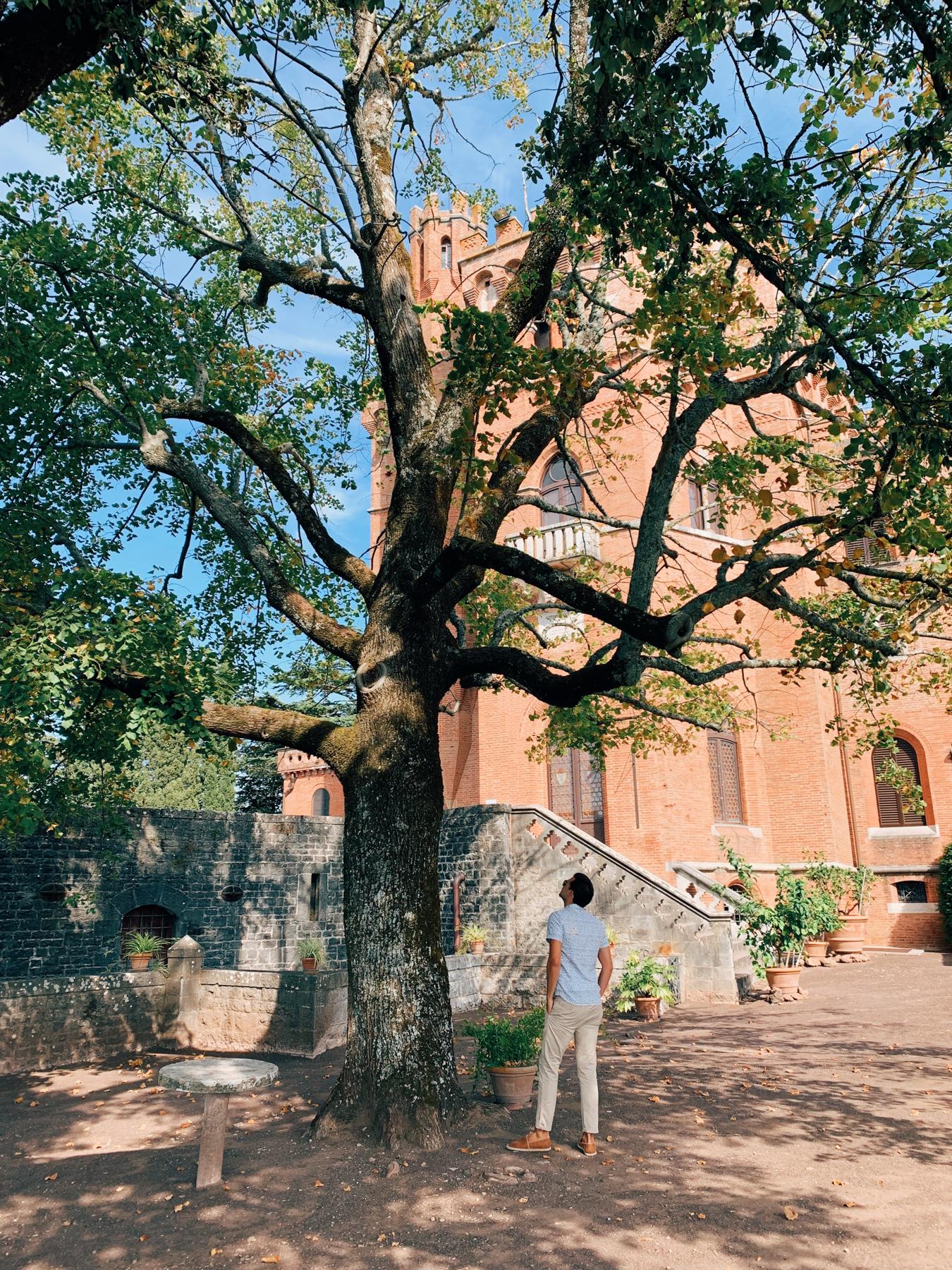Outside the beautiful grounds at Castello di Brolio.